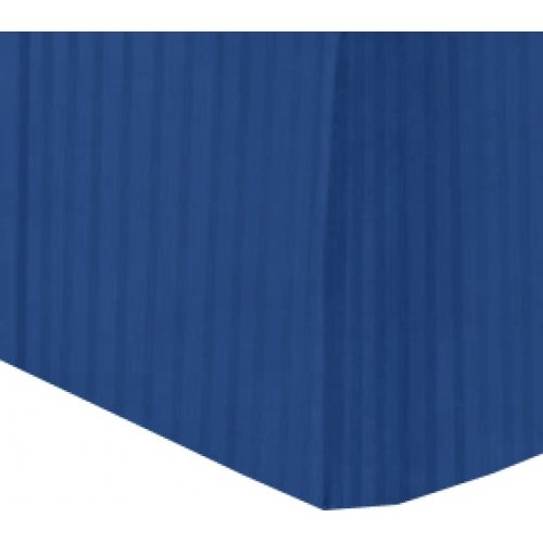 400 Thread Count Queen Bed skirt Egyptian Cotton Navy Blue Color