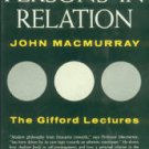 Macmurray, J. Persons In Relation, Being The Gifford Lectures...Univ Of Glasgow In 1954