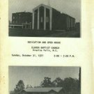 Dedication And Open House, Clover Baptist Church, Granite Falls, N.C...October 31, 1971