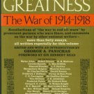 Panichas, George A, editor. Promise Of Greatness: The War Of 1914-1918