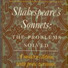 Rowse, A. L. Shakespeare's Sonnets: The Problems Solved