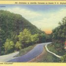 Linen Postcard. Entrance to Linville Caverns on Scenic Highway 221, N.C.