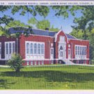 Linen Postcard. Carl Augustus Rudisill Library, Lenoir Rhyne College, Hickory, N.C.