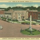 Linen Postcard. View of the Square, Lenoir, N.C.