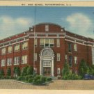 Linen Postcard. High School, Rutherfordton, N.C.