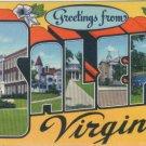 Linen Postcard. Greetings from Salem, Virginia