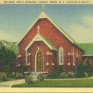 Linen Postcard. Saint Luke's Episcopal Church, Boone, N.C. (Altitude 3,333 ft.)