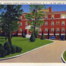 Linen Postcard. Haywood County Hospital, Waynesville, N.C., In the Land of the Sky