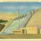 Linen Postcard. Hiwassee Dam and Power House, Western North Carolina