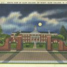 Linen Postcard. South View of Elon College, by Night, Elon College, N.C.