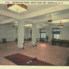 Linen Postcard. Recreation Room, Grove Park Inn, Asheville, N.C.