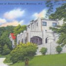 Linen Postcard. A Glimpse of Howerton Hall, Montreat, N.C.