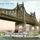 Divided Back Postcard. Queensboro Bridge, New York