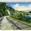 Linen Postcard. One of the Tunnels of the Norfolk and Western Railway, in Historic Virginia