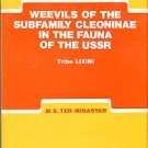 Ter-Minasyan, M. E. Weevils of the Subfamily Cleoninae in the Fauna of the USSR, Tribe Lixini