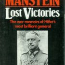 Von Manstein, Erich. Lost Victories