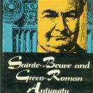 Mulhauser, Ruth E. Sainte-Beuve and Greco-Roman Antiquity