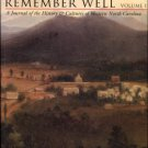 Brunk, Robert, ed. May We All Remember Well: A Journal Of The History & Cultures Of Western N.C.