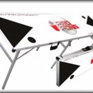 Original Portable ProPong Beer Pong Table - Black, White, & Red Color