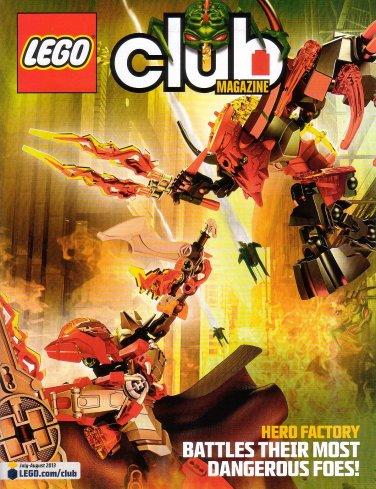 Lego Club Magazine Hero Factory July August 2013