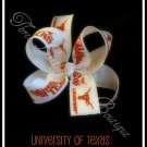 University of Texas Longhorns boutique hair bow
