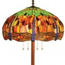 Dragonfly  Stained Glass Floor Lamp
