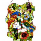 Birds in Paradise Stained Glass Panel