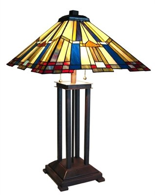 Fantastic Mission Tiffany Styled Table Lamp