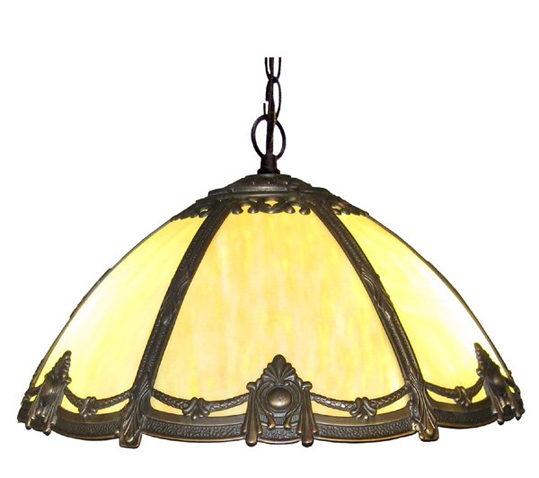 Antique Tiffany Hanging Lamp Value: Antique Style Victorian Stained Bented Glass Hanging Lamp