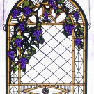 Grape Diamond Trellis Window Panel