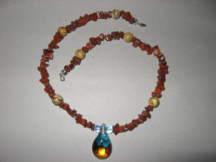 Blown Glass Necklace - Handmade