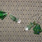 Fish Earrings Handmade Green