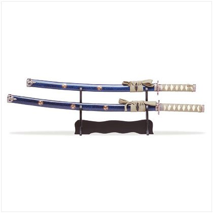 2PC SAMURAI SWORDS/SCABBARDS