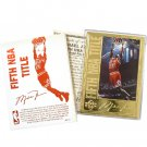 Michael Jordan Career Gold Foil Card -#13-5th NBA Title