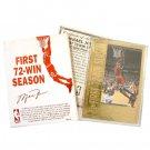 Michael Jordan Career Gold Foil Card - #14 -1st 72 Win