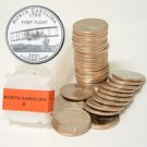 2001 North Carolina Quarter Roll - Denver Mint