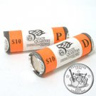 2002 Tennessee Quarters - Government Wrapped - Philadelphia & Denver Mint Roll Pair