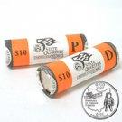 2002 Ohio Quarters - Government Wrapped - Philadelphia & Denver Mint Roll Pair