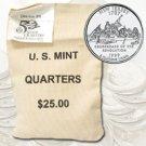 1999 New Jersey $ 25 Government Bag D Mint Quarters