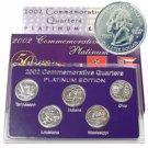 2002 Quarter Mania Uncirculated Set - Platinum D Mint