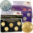2002 Quarter Mania Precious Metal Set - Gold P / Plat D
