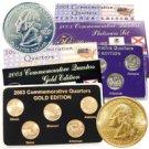2003 Quarter Mania Precious Metal Set - Gold P / Plat D