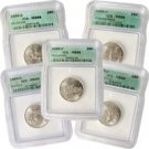 1999 Set of 5 Quarters - Denver Mint Certified 66