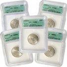 2003 Set of 5 Quarters -  Denver Mint Certified 66