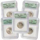 2000 Set of 5 Quarters - Denver Mint Certified 67