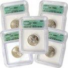 2004 Set of 5 Quarters - Denver Mint Certified 67