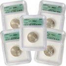 2004 Set of 5 Quarters - Philadelphia Mint Certified 67