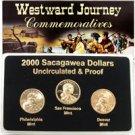 2000 Sacagawea Dollar - P/D/S Mint Set