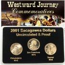 2001 Sacagawea Dollar - P/D/S Mint Set