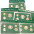 Proof Set Collection (1994-1998) - Green Box